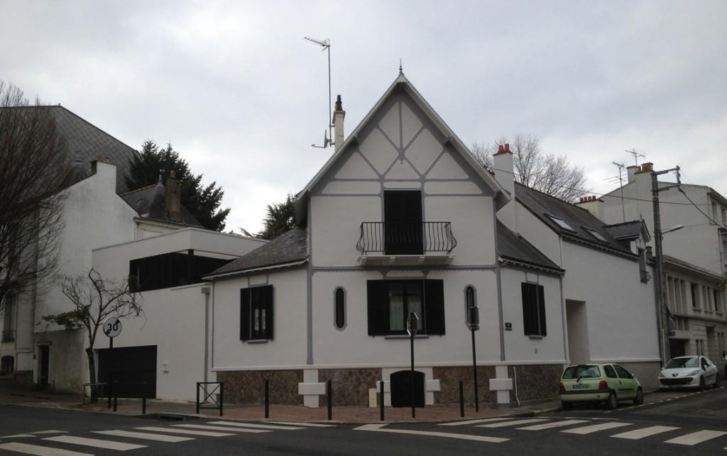 Rénovation et extension d'une maison à Nantes.