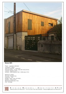 Maison DMR, Nicolas Masurel architecte Nantes.